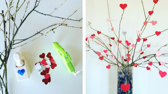 Valentine's Day DIY Projects Tree of Hearts
