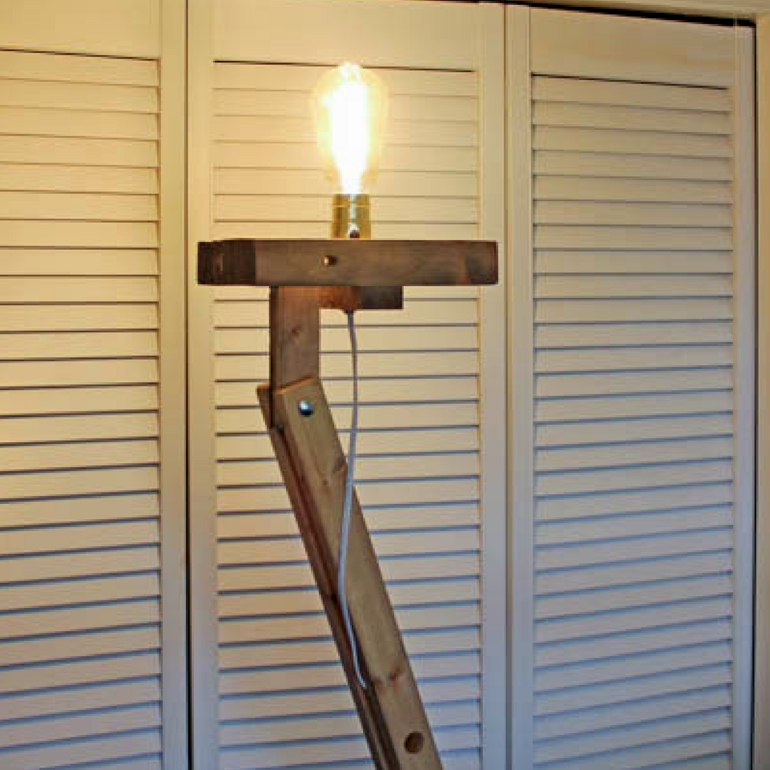 Assemble the bulb on your industrial floor lamp