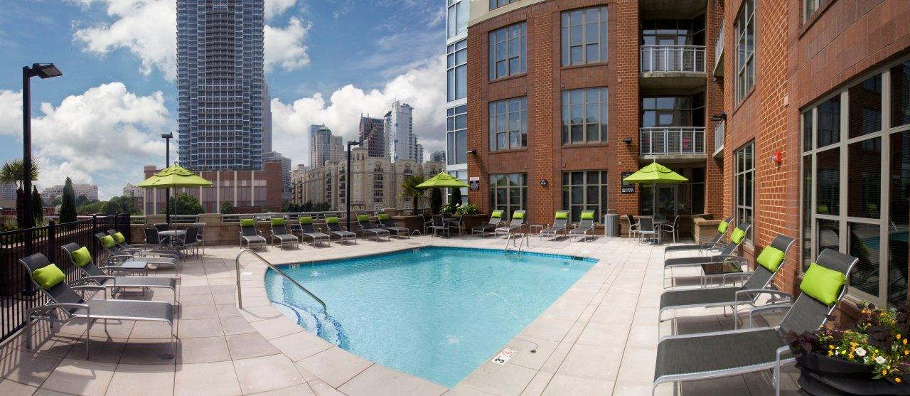 Rooftop Terrace at Camden Cotton Mills in Uptown Charlotte