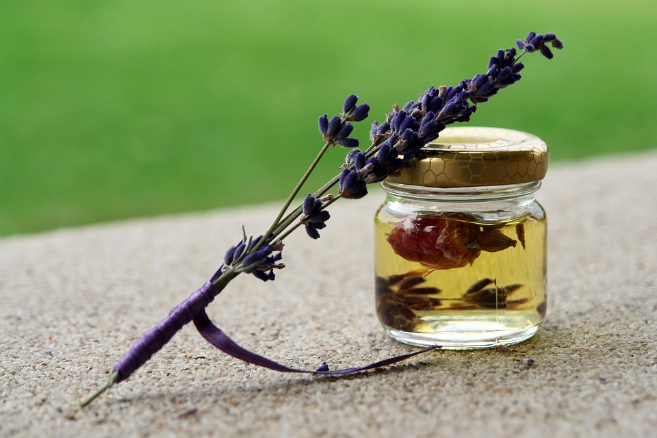Use lavender oil to create a calm space with essential oils