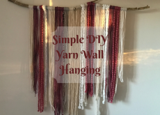 Simple DIY yarn wall hanging how-to in 5 steps