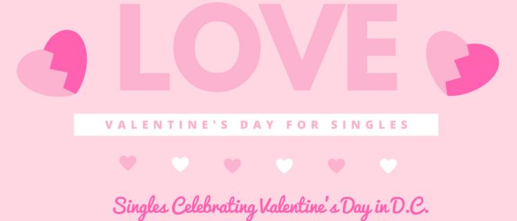 Singles celebrating valentines day